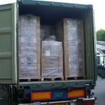 Lohnverpackung und Lieferung